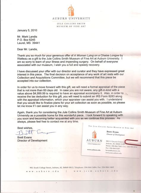Auburn Acceptance Letter And Craft Forgeries