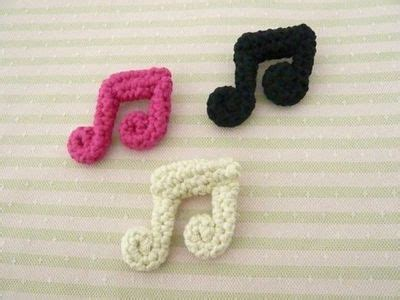 crochet pattern music notes crocheted cotton music note brooch crochet ideas and