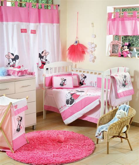minnie mouse nursery bedding disney baby minnie mouse flower 4 piece crib set girls crib bedding pinterest
