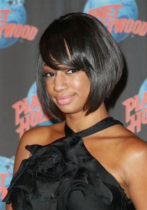 side swept hairstyles for black short black bob hairstyle with side swept bangs