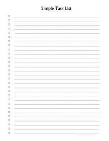 simple to do list template 5 best images of printable numbered list printable