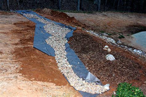 Landscape Rock Drainage Project Landscaping