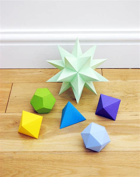 Origami Stellated Dodecahedron - stellated dodecahedrons minieco