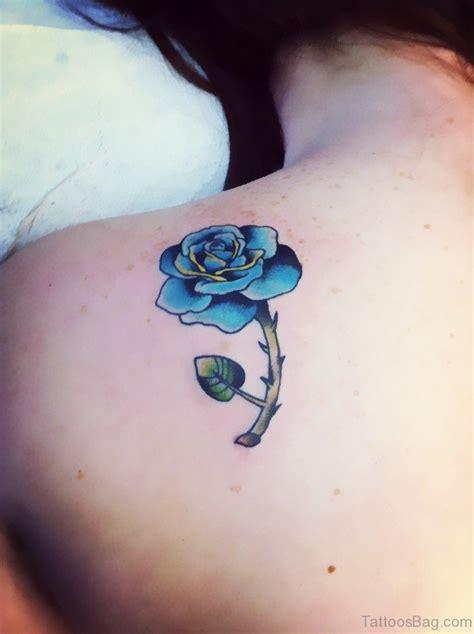 25 Beautiful Blue Rose Shoulder Tattoos Blue On Shoulder