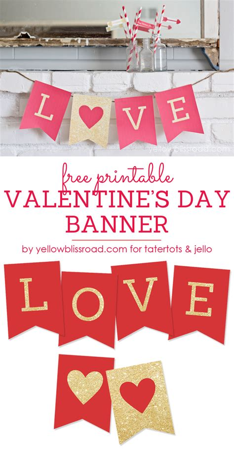 day banner free printable s day banner tatertots and jello