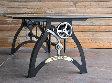 Legs Up Bench Press Industrialux Crank Table Vintage Industrial Furniture