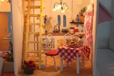 Kj 02 Xl drewniany domek dla lalek o蝴wietlenie wyposa蟒enie