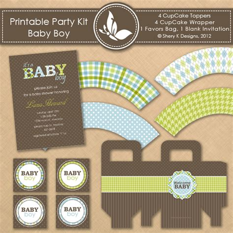 printable kit baby shower boy shery k designs