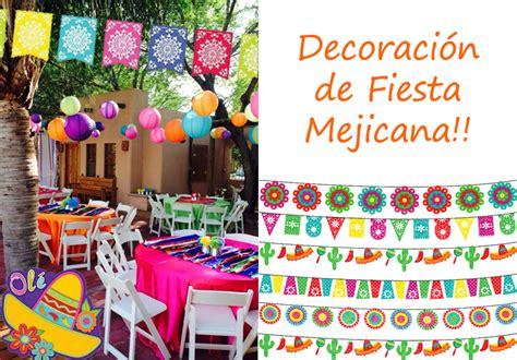 decoracion mexicana y elementos divertidos