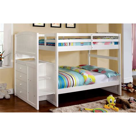 furniture  america marion bunk bed  built  drawers