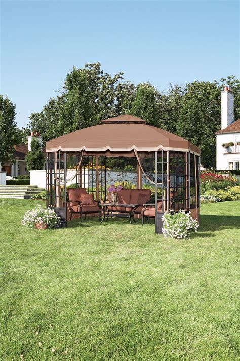 garden oasis gazebo garden oasis bay window gazebo outdoor living gazebos