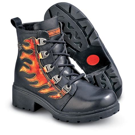 womens red motorcycle boots women s harley davidson 174 sizzle boots black red