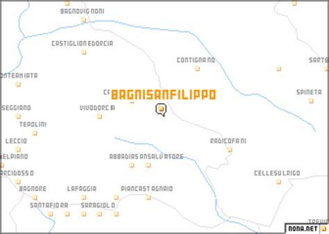 bagni di san filippo mappa bagni san filippo italy map nona net