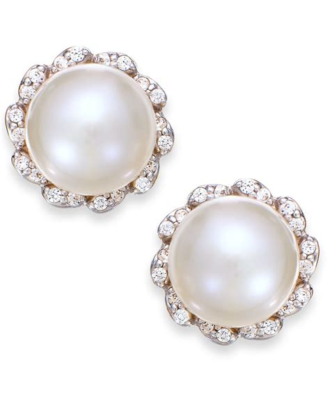 macy s cultured freshwater pearl 7mm and 1 8 ct