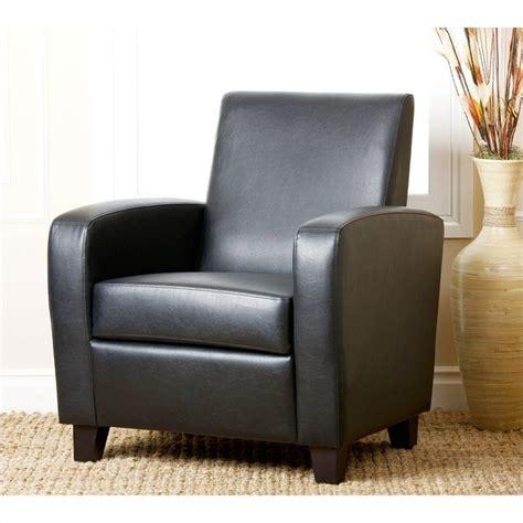 Black Club Chair by Abbyson Living Capella Faux Leather Club Chair In Black
