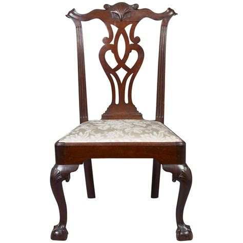 chippendale stuhl chippendale carved side chair at 1stdibs