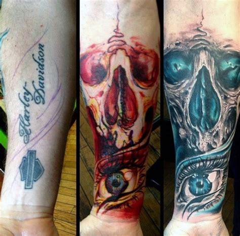 tattoo cover up forearm 60 tattoo cover up ideas for men before and after designs