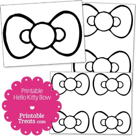 hello cut out template free printable hello bow printable treats
