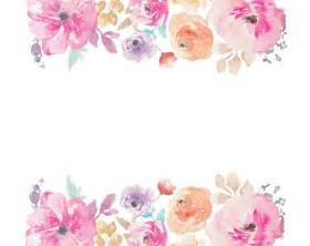 watercolour flower frame border clip art digital download