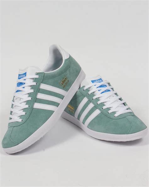 Adidas Gazelle adidas gazelle og trainers legend green white originals