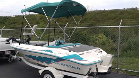 sea ray jet boat 1993 1993 sea ray sea rayder quot bassboat quot for sale on ebay youtube