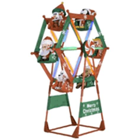 gemmy 7 ft airblown animated christmas outdoor ferris wheel