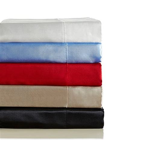 silk pillow cases bed bath beyond satin radiance 230 thread count standard pillowcases set