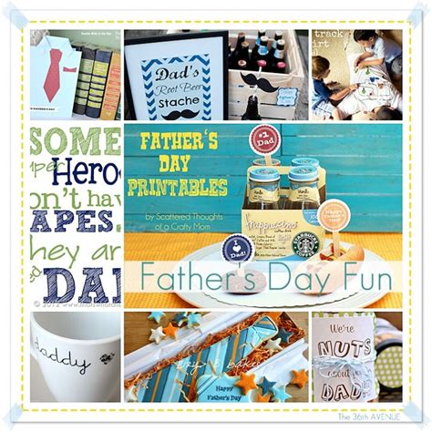 Fathers Day Handmade Gifts - s day free printable the 36th avenue