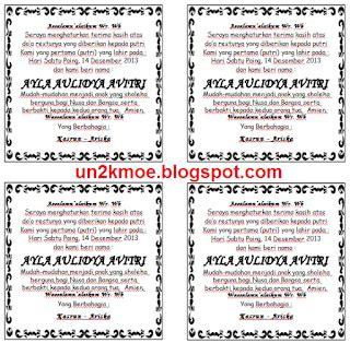 contoh format askep asma undangan walimatul asma souvenir undangan pernikahan
