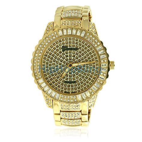 gold bling bling watches hip hop watches