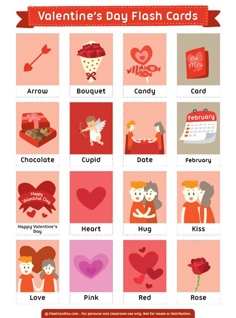 valentines card esl free printable s day flash cards them