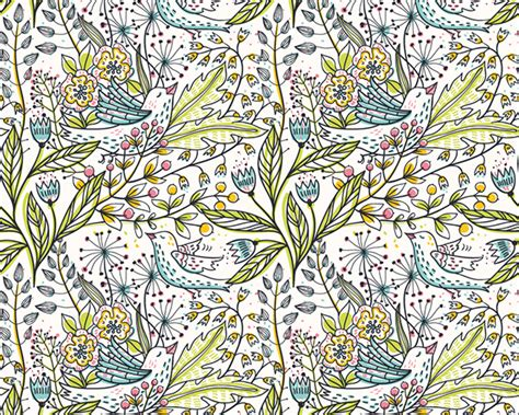 nature pattern vector quot sketchy nature quot vector seamless patterns on behance