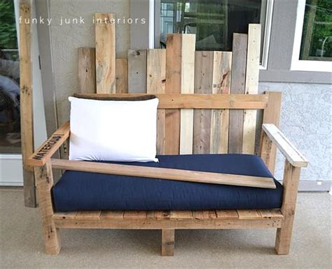 how to make a sofa out of pallets diy outdoor pallet wood sofa pallet furniture plans