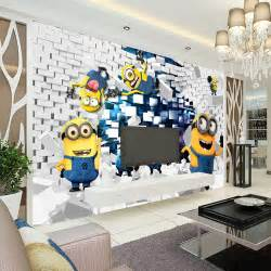 Aliexpress com acheter 3d minions photo papier peint cartoon
