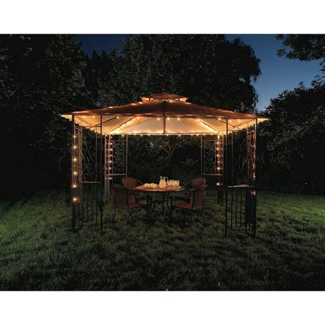 gazebo string lights threshold string lights gazebo 140 ct