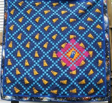 Dr Who Quilt Fabric by Doctor Who Tardis Quilt Surprisingly Not Made From The