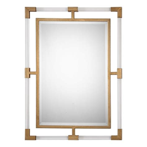 Acrylic Mirror steph rectangular acrylic and gold mirror mecox gardens