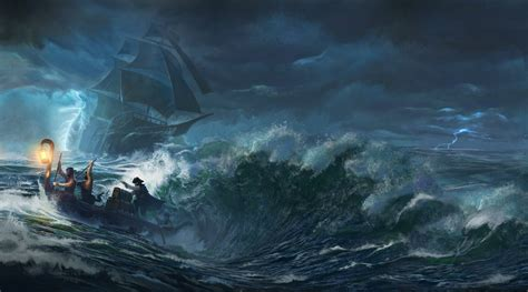 barco en una tormenta dibujo sea boat storm pirates ship wallpapers hd desktop