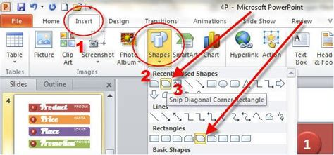 cara membuat presentasi menarik power point cara membuat shapes dengan program presentasi power point