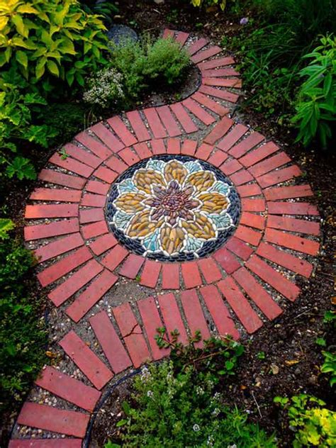 yard projects diy ideas for creating cool garden or yard brick projects