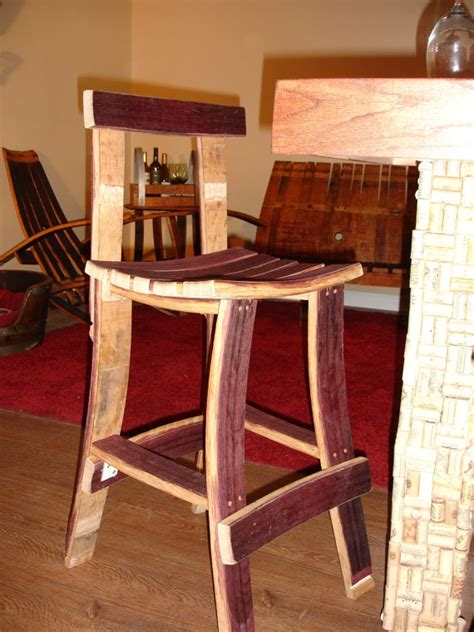 Wine Barrel Stools With Back by Best 25 Wine Barrel Bar Stools Ideas On