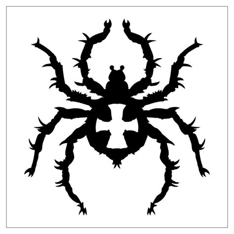 tato monster keren spider tarantula iii tatto black white tribal