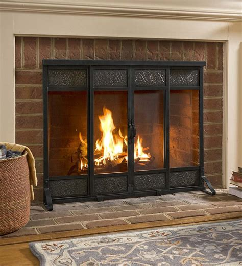 fireplace cover ideas single panel fireplace screens fireplaces
