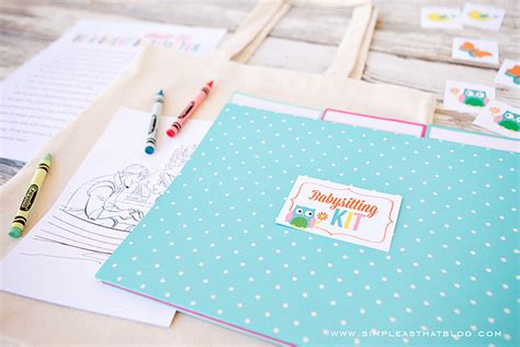 crafts to do with while babysitting babysitting kit printables