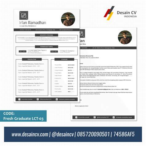 format cv untuk fresh graduate desain cv kreatif cv fresh graduate