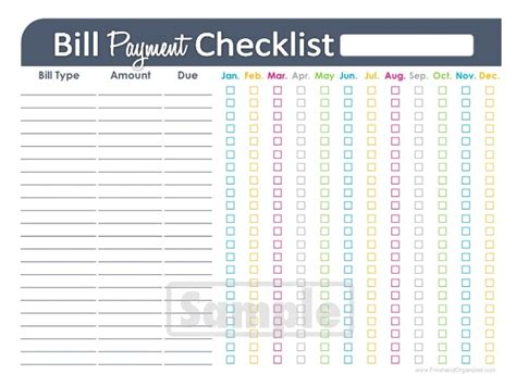 free printable monthly bill payment log sharedpinterest with