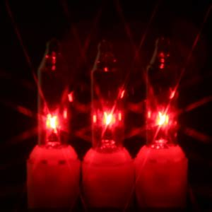 red christmas tree lights with red wire