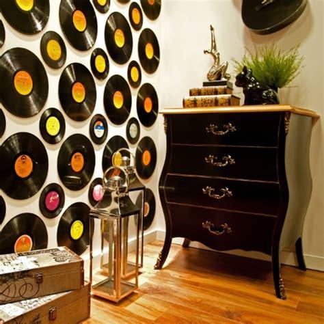 decoracion co como decorar as paredes discos de vinil ideias