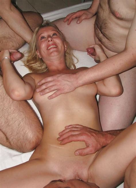 Dutch Blonde Amateur Milf Gangbang With Many Facials 39
