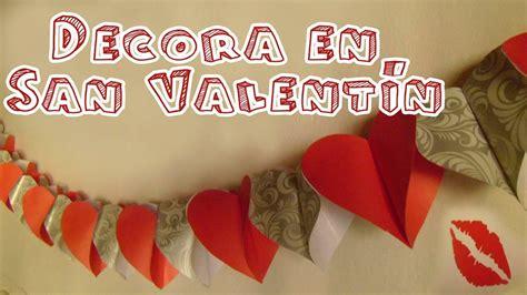 como hacer cadenas de corazones con papel crepe guirnalda de corazones de papel candy bu youtube